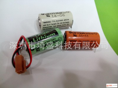 sanyo三洋THIUM BATTERY CR17335SE-R 3V PLC工数控后备电池